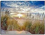 ZXlDXF Pintura por números para adultos y niños, principiantes, playa, puesta del sol, paisaje, pintura acrílica, pintura por números, 40,6 x 50,8 cm