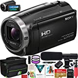 Sony HDR-CX675/B Full HD Handycam Camcorder CX675 Video Camera with Exmor R CMOS Sensor Wi-Fi NFC and G Lens 30x Optical Zoom Bundle with Deco Gear Case + Microphone + Filter Kit & Accessories