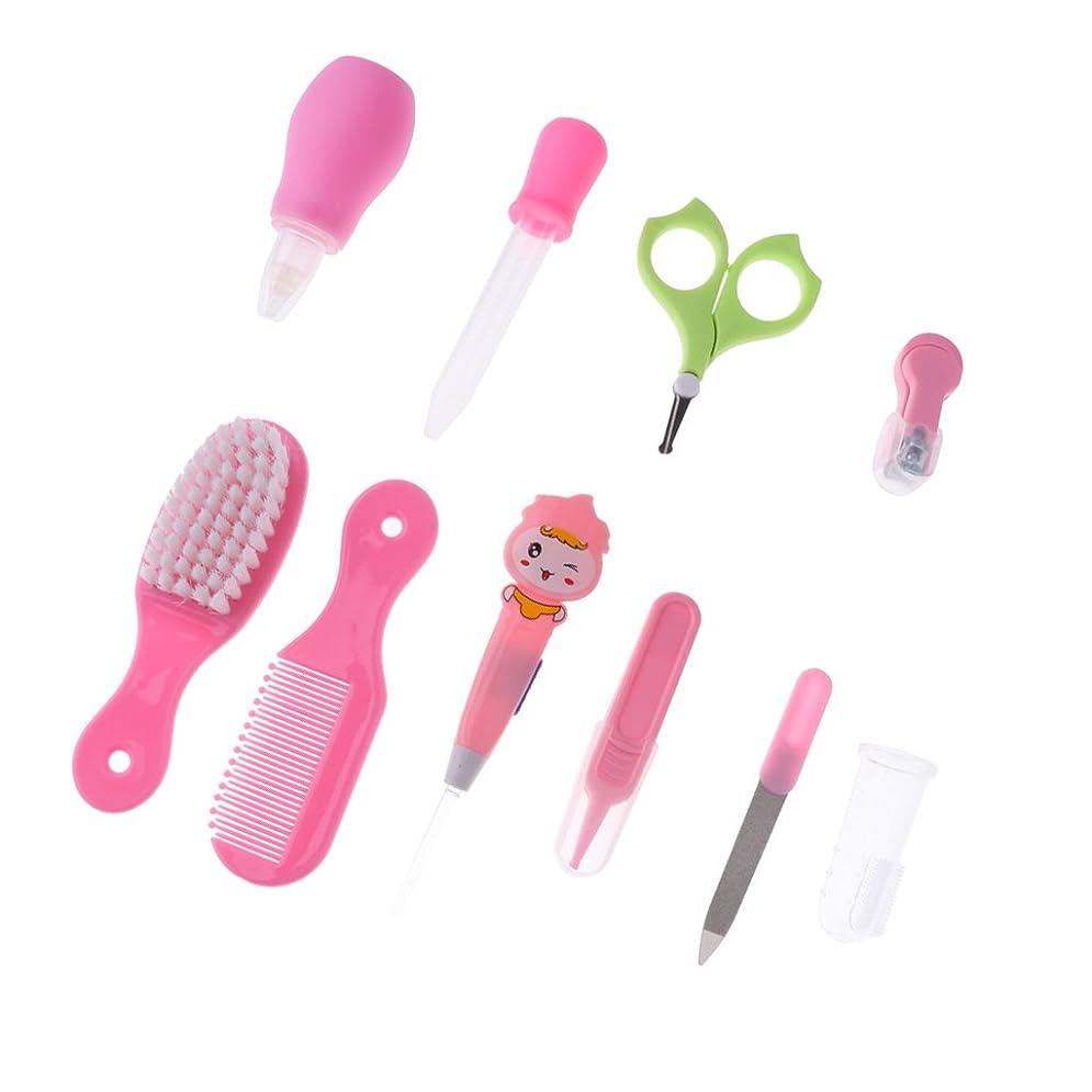 下るコンサルタントハウジングGRALARA プラスチック 10本  爪 ヘア ケア グルーミング ブラシ キット  赤ちゃん 子供 全2色 - ピンク