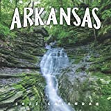"""Arkansas 2022 Calendar: 12-month Calendar - Square Small Gorgeous Calendar 8.5x8.5"""" for planners with large grid for note"""