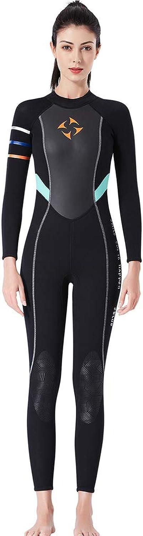 ZUKN Women's Wetsuits, 3mm Neoprene Super Elastic Snorkeling Clothing Siamese Long-Sleeved Surf Clothing for Diving Surfing Snorkeling Swimming