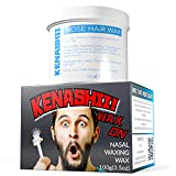 Cera Encendido. Cera de depilación nasal por Kenashii. 100 gramos. Cera esa nariz barba, Wax On. Nasal Waxing Wax by Kenashii. 100g. Wax That Nose Beard