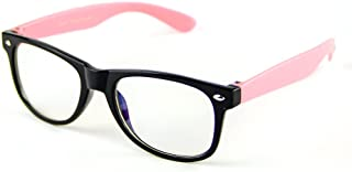 Cyxus Blue Light Blocking Glasses for Kids and Teens, Anti Eye Strain UV Computer Eyewear Clear Lens Pink Frame