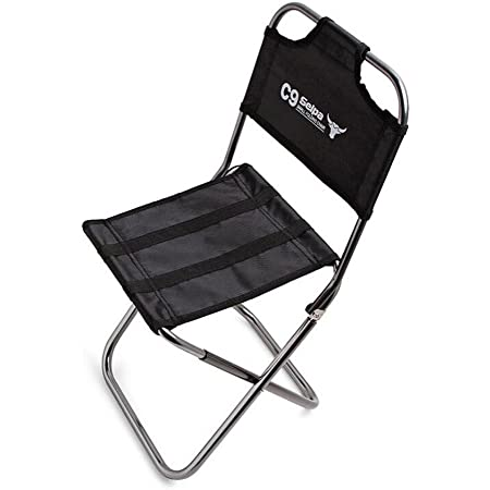 TYH Camp Stool Black Foldable Outdoor Chairs for Travel Fishing Beach Backpacking Hiking Picnic Lawn Camp Travel Garden Lightweight Camping Stool Portable Folding Camp Chair