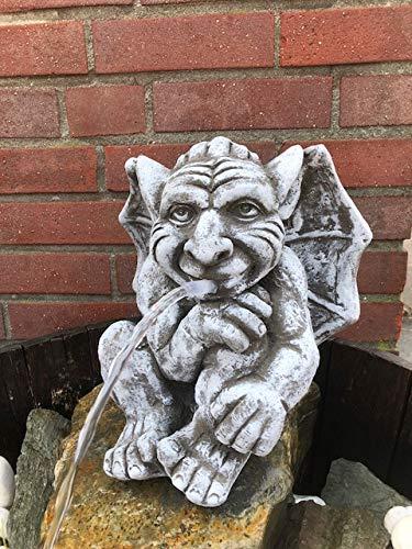 Brunnen Figur Wasserspeier Gargoyle Steinfiguren Steinguss Gartenfigur W38