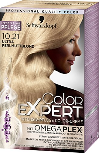 Schwarzkopf Color Expert Intensiv-Pflege Color-Creme 10.21 Ultra Perlmuttblond, 3er Pack (3 x 167 ml)