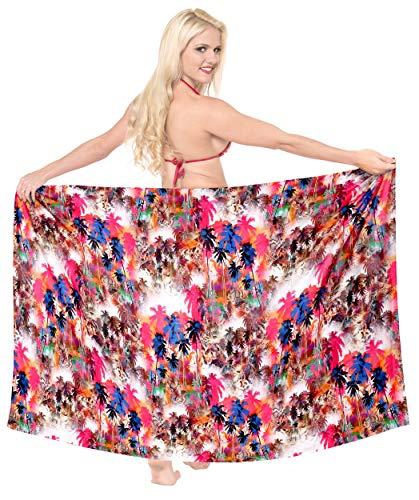 LA LEELA Largo baño Las Mujeres Empate Sarong Pareo Digitales Multicolor_7177 78