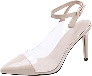 BeiaMina Women Transparent Pumps Shoes Stiletto