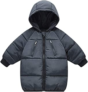 LANBAOSI Baby Boys Girls Winter Coat, Toddler Kids Warm Hooded Jacket Outerwear