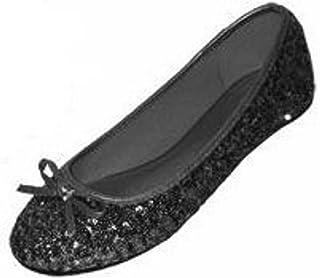 Shoes8teen Womens Sequin Ballet Flat