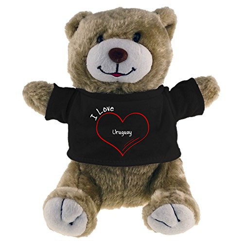 Diseño de oso de peluche I Love Uruguay Beige