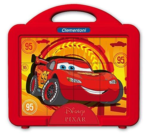 Clementoni 41338 - Puzzle Cubi Cars 2, 12 Pezzi