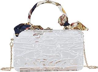 MIMITU Klare Acrylbox Abendtasche Damen Sommer Top Griff Abendessen Clutch Geldbörsen Damen Transparent Kristall Handtasche