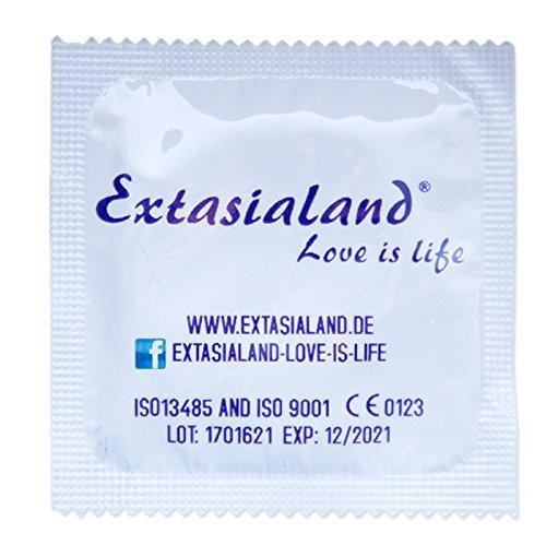 Extasialand Markenkondome 1000 Kondome glatt und transparent im praktischen Sparpack Präservative