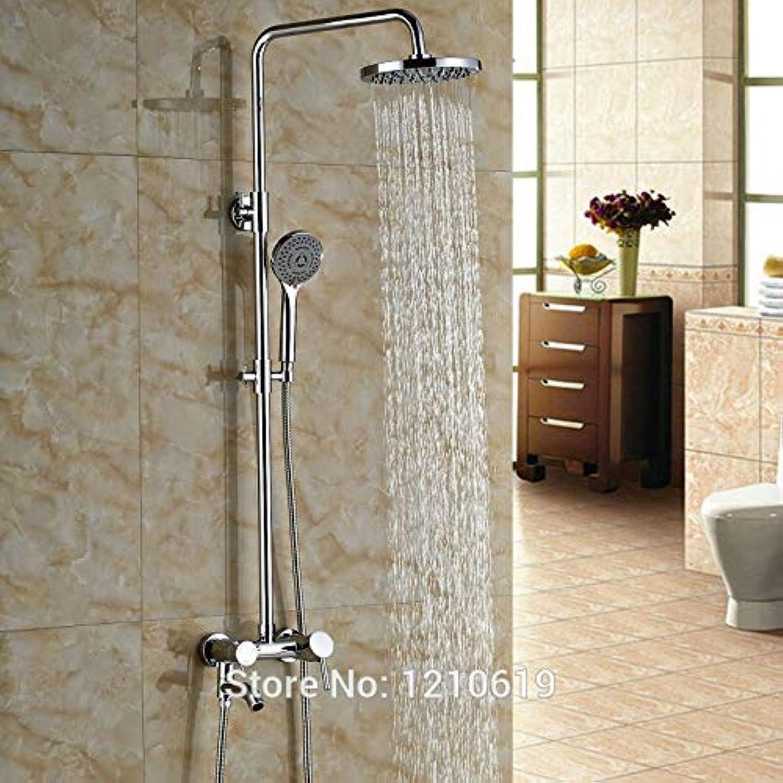 Neu Moderne Badezimmer 8 Dusche Wasserhahn Set Mischbatterie Chrom Fertig Badewanne Wasserhahn w Handbrause, Multi