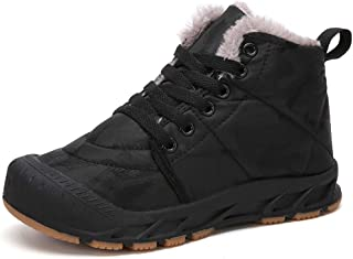 Kids Girls Boys Waterproof Winter Snow Boots Resistant Warm Antislip Outdoor Shoes