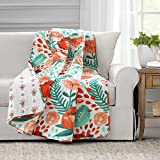 Lush Decor Poppy Garden Throw Blanket, 50' x 60', Multi