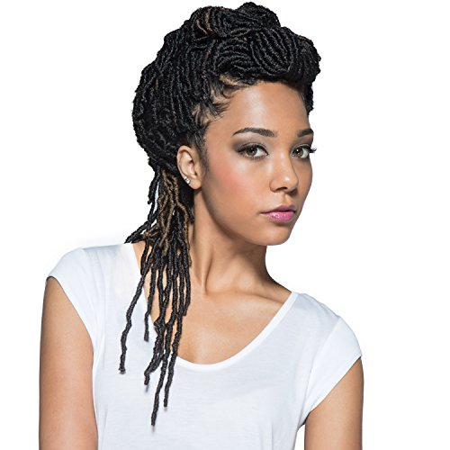 Bobbi Boss Synthetic Hair Crochet Braids African Roots Braid Collection Nu Locs 14' (6-PACK, 1B)
