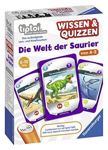 Ravensburger tiptoi 00842 Wissen und Quizzen: Die Welt der Saurier, Quizspiel für Kinder ab 6 Jahren, für 1-6 Spieler