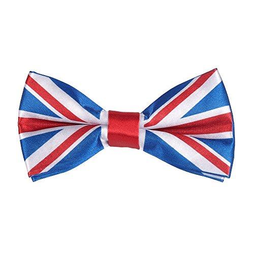 CravateSlim Noeud Papillon Drapeaux du Monde - Noeud Papillon Homme Prénoué (Drapeau Union Jack)