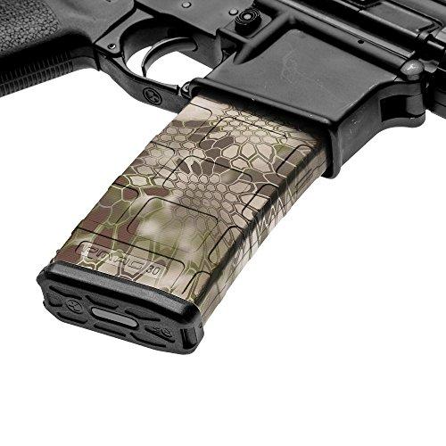 GunSkins AR-15 Mag Skin Camouflage Kit DIY Vinyl Magazine Wrap – 3 Pack (Kryptek Highlander)