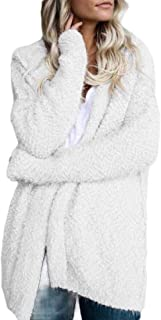 Womens Winter Long Sleeve Soft Chunky Knit Sweater Open Front Cardigan Outwear