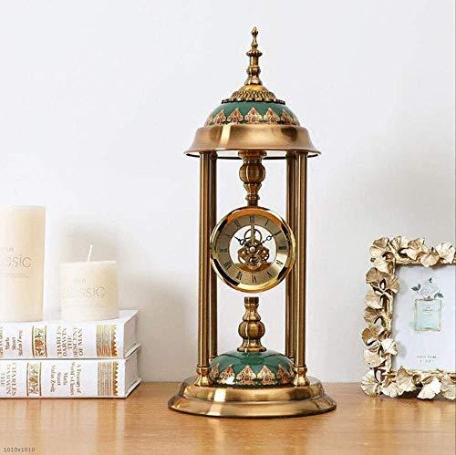 Orologi da mensola con ornamenti, orologio da tavolo da scrivania Creativo in metallo / vetro artistico Decorativi muto Scrivania e mensole Orologi da tavolo al quarzo Orologi da regalo per la casa
