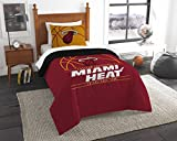 NORTHWEST NBA Miami Heat Comforter and Sham Set, Full/Queen, Reverse Slam