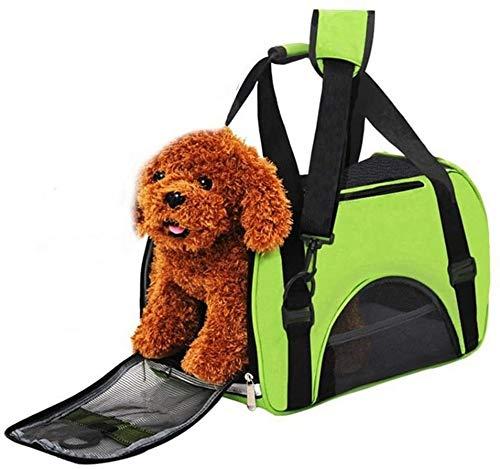 Mochila perro Bolsa del animal doméstico hacia fuera portátil Mochila mascota fluorescente verde bolsas de viaje portátil.Artículos for mascotas perro gato for el recorrido de senderismo (Tamaño: L)