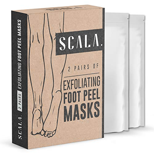 Foot Peel Exfoliating Mask (2 Pairs) for Soft Feet and Exfoliant Gel Peels Away Rough Dry Skin and Callus