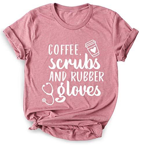 Coffee Scrubs and Rubber Gloves, Nurse Shirt, Nursing School Shirt, Funny Nursing Shirt, Quarantine Shirt, Social Distancing Shirt