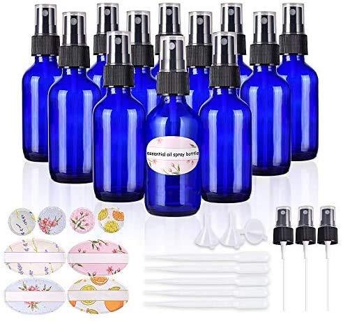 12Pack 30ml Flacon Vaporisateur Vide, Atomiseur Bouteille Portable Rechargeables Réutilisables pour l'eau Cosmétique Parfum