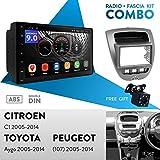 UGAR EX9 7' Android 9.0 DSP Autoradio GPS Navigation + 11-167 Radioblende Dash Installation Faszie Kit für Citroen C1 2005-2014 / Toyota Aygo 2005-2014 /...