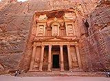 PQGHJ Navidad Adulto Rompecabezas Ciudad arqueológica Petra Patrimonio de la Humanidad 1000 Piezas
