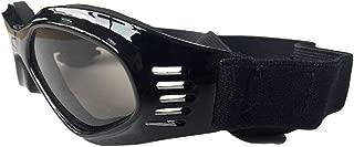 犬用ゴーグル、ペット用メガネ、折りたたみ式ペット用犬用サングラスUV保護メガネ防風用サンペット用犬用メガネ,Black