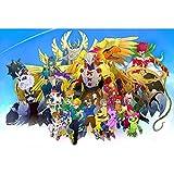 puzzles Rompecabezas De Madera 1000 Piezas Animación Digimon Niños Adultos Descompresión Educativa Juguetes Creativos(Color:si)