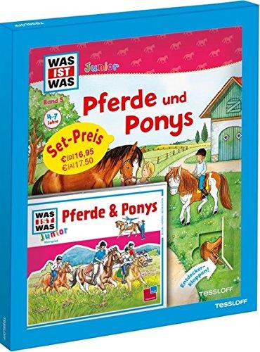 WAS IST WAS Junior Geschenkset Pferde und Ponys: Bilderbuch mit Spielen, Rätseln & Hörspiel-CD