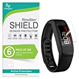 (6-Pack) RinoGear Screen Protector for Garmin Vivofit 2 Case Friendly Garmin Vivofit 2 Screen Protector Accessory Full Coverage Clear Film