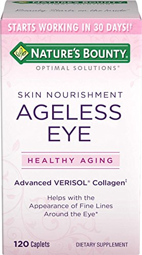 Nature's Bounty Optimal Solutions Ageless Eye Verisol Collagen, 120 Caplets