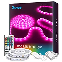 Color Changing: The 32.8ft (2X5m) led strip light is featured with not only equipped light colors like RGB (Red, green, blue), white and other 16 colors, but also 6 color DIY options. Create romantic, festive atmosphere for events like Halloween Chri...