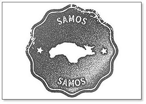 Samos Map Vintage Retro Stijl - Koelkast Magneet