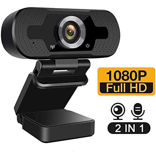 Nineaccy USB Webcam mit Mikrofon, HD1080P Webcam PC-Laptop-Kamera,für Videoanrufe,Videokonferenzen,Online-Unterricht Lernen, Live Übertragungen,Gaming PC und Videoanruf