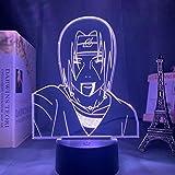 Solo 1 pieza Lámpara de anime Naruto Sasuke e Itachi Uchiha para niños Decoración de dormitorio infantil Luz de noche Rgb Colorido 3d Luz de noche LED Regalo de manga