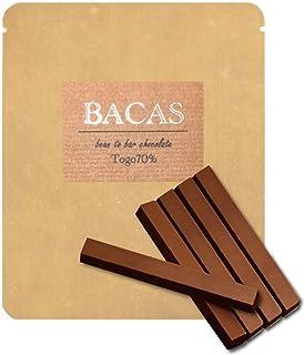 BACAS (バカス) ビーントゥバー チョコレート ハイカカオ トーゴ70% スティック5本入り カシューナッツのような風味