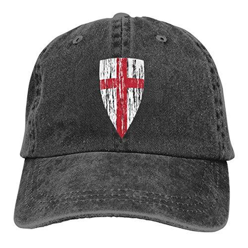 Gorra de béisbol ajustable con fragancia de hoja de loto, caballeros templarios, con diseño de cruz