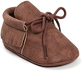 Isbasic Baby Shoes For Boys Girls Non-Slip Toddler Moccasinss Crib Shoes [並行輸入品]