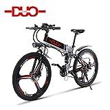 GUNAI Vélo électrique Montagne, 26 Pouces Pliant Vélo VTT E-Bike 21 Vitesses Shimano