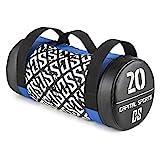 Capital Sports Toughbag Power Bag Sandbag Sacco Sabbia per Migliorare Forza e Resistenza (20 kg Max, Pelle...