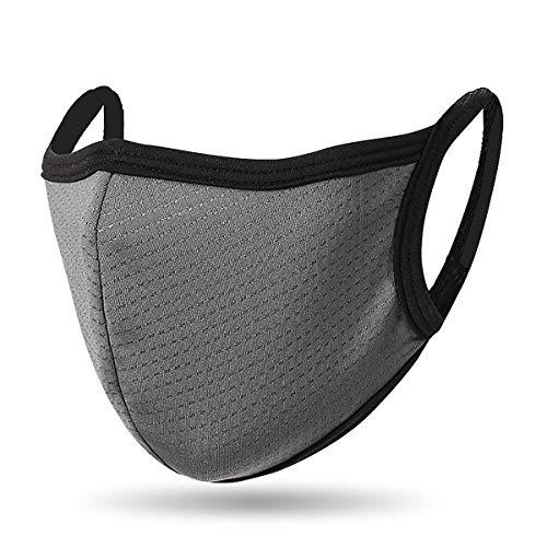 QueensFace Mesh Dot Breathble Outdoor Riding Running Face Mask (Gray)
