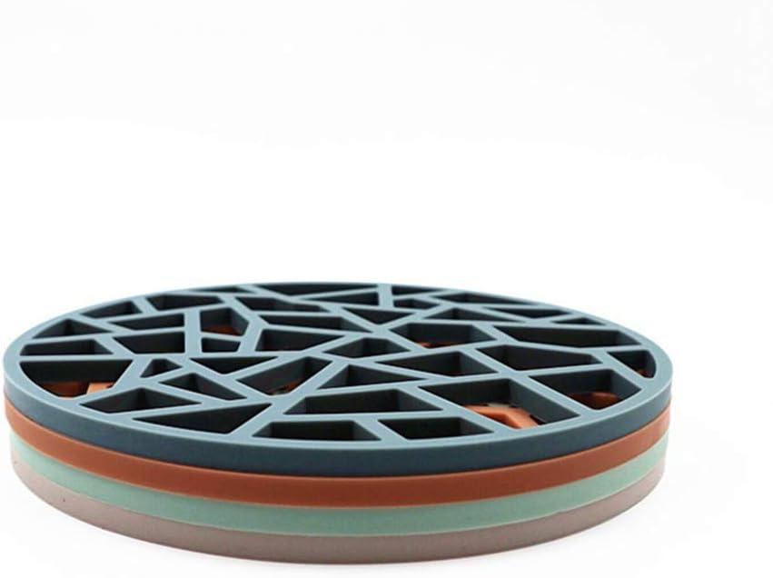 YARNOW 2Pcs Porte-Casseroles en Silicone R/ésistant /à La Chaleur Tapis de Dessous de Plat Antid/érapants Hot Pads Dessous de Plat Polyvalent Marron
